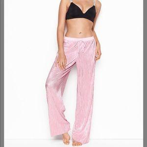 NWT Victoria's Secret Shine Pleat Pajama Pants